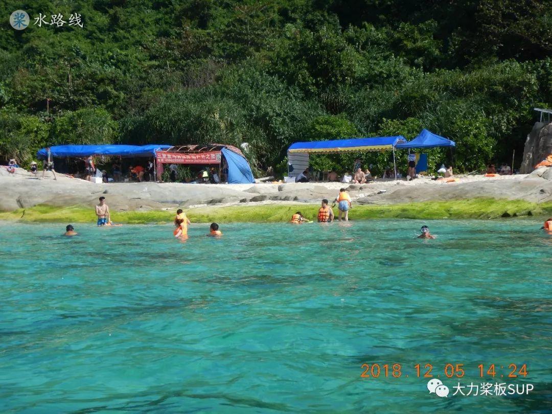 水路线 -SUP桨板环海南旅行之(23)桨板横渡石梅湾加井岛+自由潜